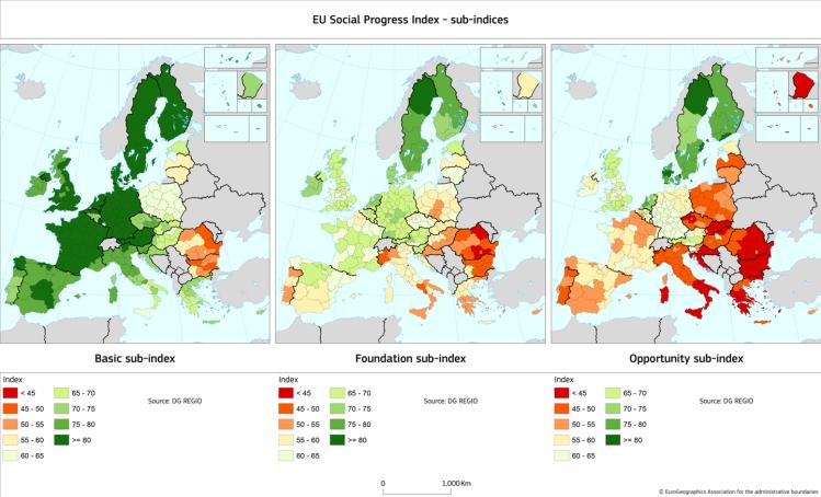 EU regional Social Progress Index