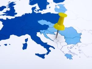 Map Balkans and Pins