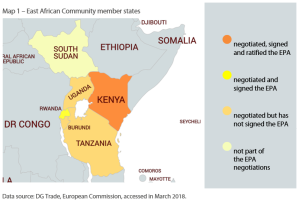 Map 1 – East African Community member states