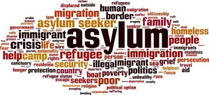 Asylum word cloud