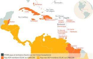 Les membres CARICOM ou CELAC ne sont pas tous membres du groupe ACP