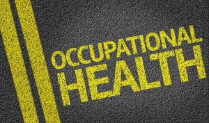 Occupational Health written on the road