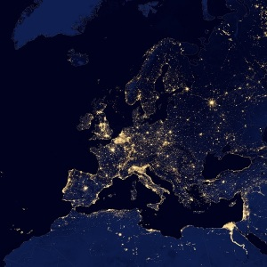 europe in the night