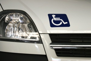 Person with disability sign on a car