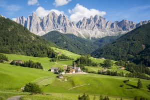 Italy dolomites - Val di Funes in summer
