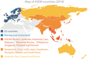 Map of ASEM countries (2018)