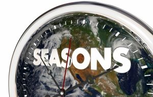 Seasons Clock Time Passing Earth Planet World 3d Illustration