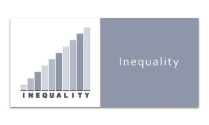 Inequality - Increasing graph on white background