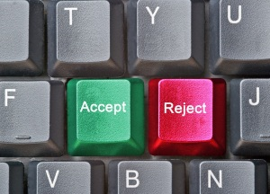 Accept or reject on keyboard