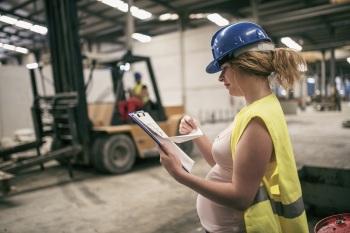 Pregnant women at work