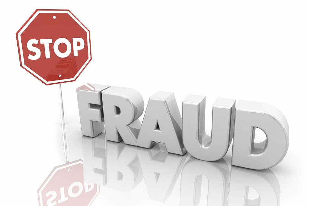 Stop Fraud Sign End Crime Theft 3d Illustration