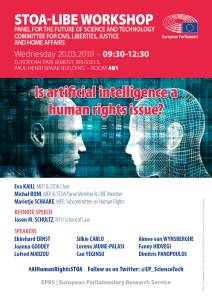 STOA-LIBE workshop on 'AI and human rights', 20-03-2019 - Poster