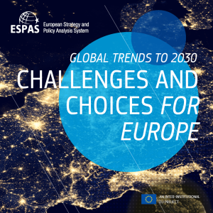 Global trends to 2030: Challenges and choices for Europe