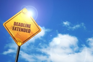 deadline extended, 3D rendering, traffic sign