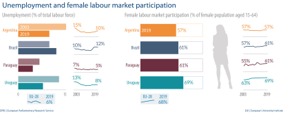 Fig 2 - Unemployment and female labour market - Mercosur