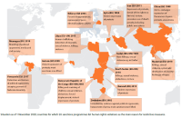 Figure 1 – Countries that have EU/UN sanctions against them for human rights violations