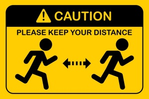 Social distancing icon sport.People running.Keep Safe Distance to protect from COVID-19 coronavirus concept.