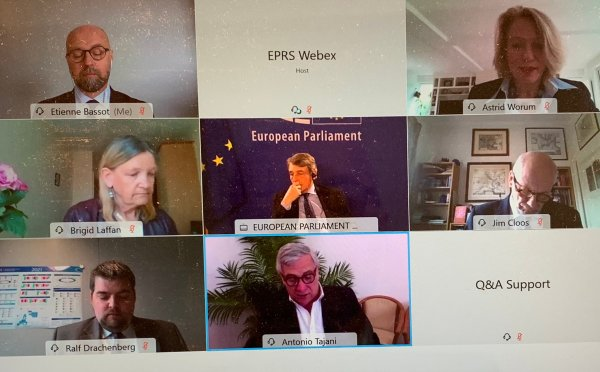 EPRS debates the MFF negotiations with President Sassoli